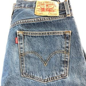 Levi's 501 Red Tag Men's 34x34 Cotton Denim Jeans